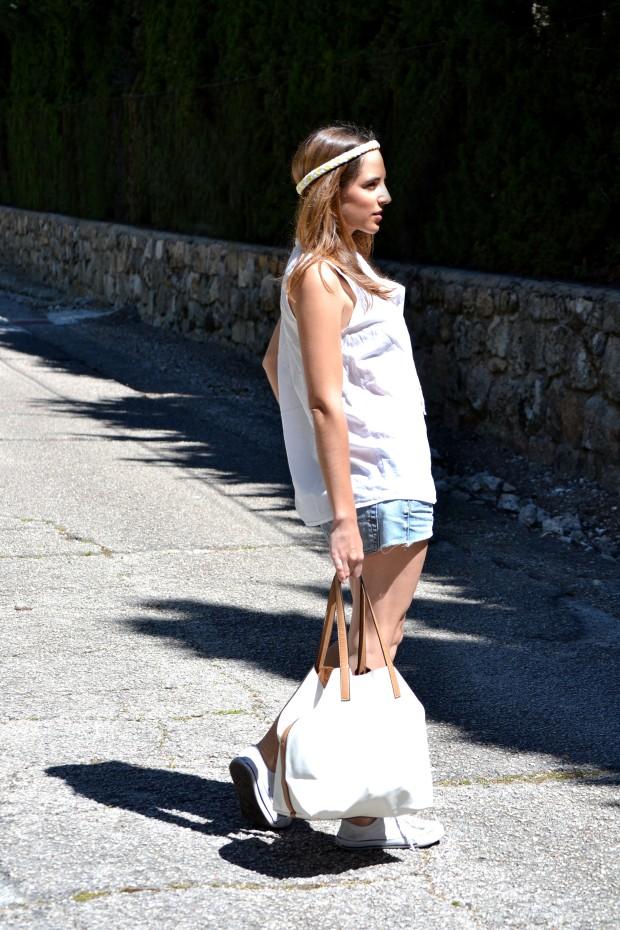 la reina del low cost blog de moda barata style outfit tendencias primavera 2013 look festival verano 2013 bandas de pelo mywool shorts levis converse bajitas bolso parfois verano 2013 7