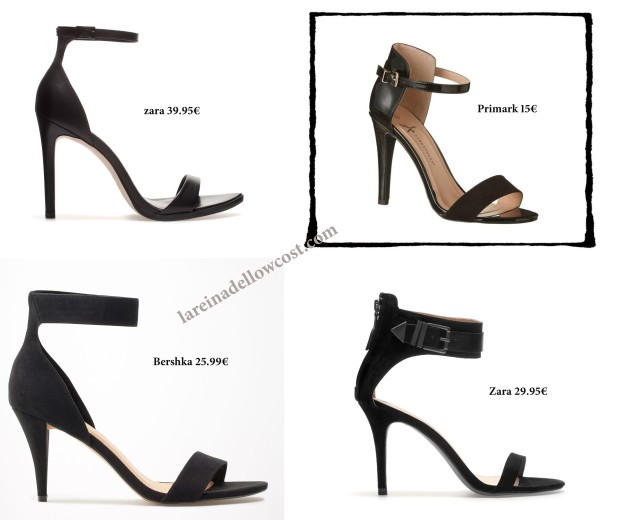 la reina del low cost blog de moda barata total look outfit sandalias tacon negras zara primark bershka stradivarius online look comunion 2013 tendencia blanco y negro black&white