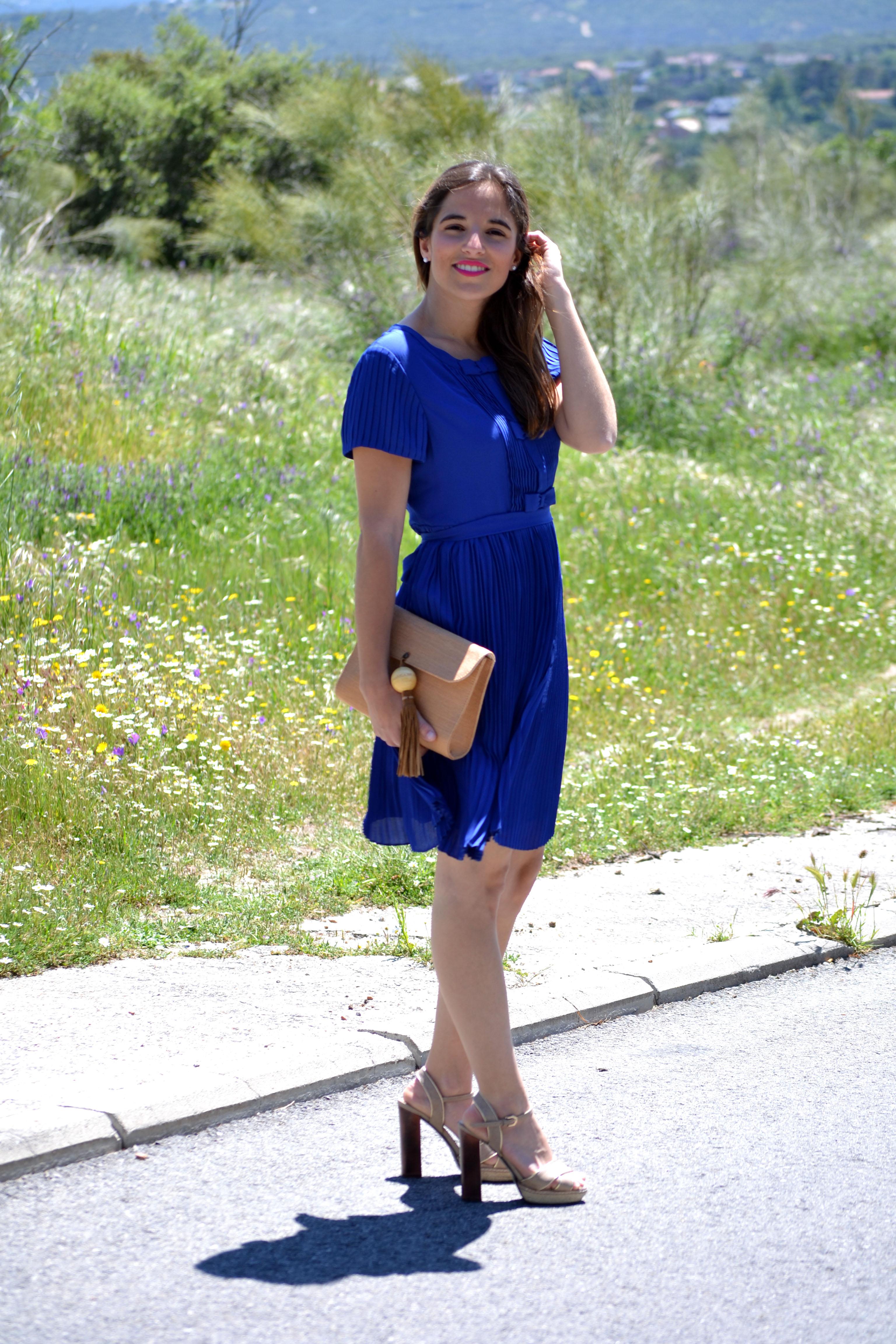 Vestido azul electrico para comunion