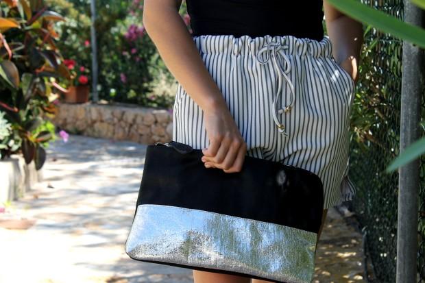 la reina del low cost blog de moda barata total look outfit verano shorts choies camiseta basica zara bolso brillos alicante esparteñas conbuenpie.com opiniones comprar zapatos online