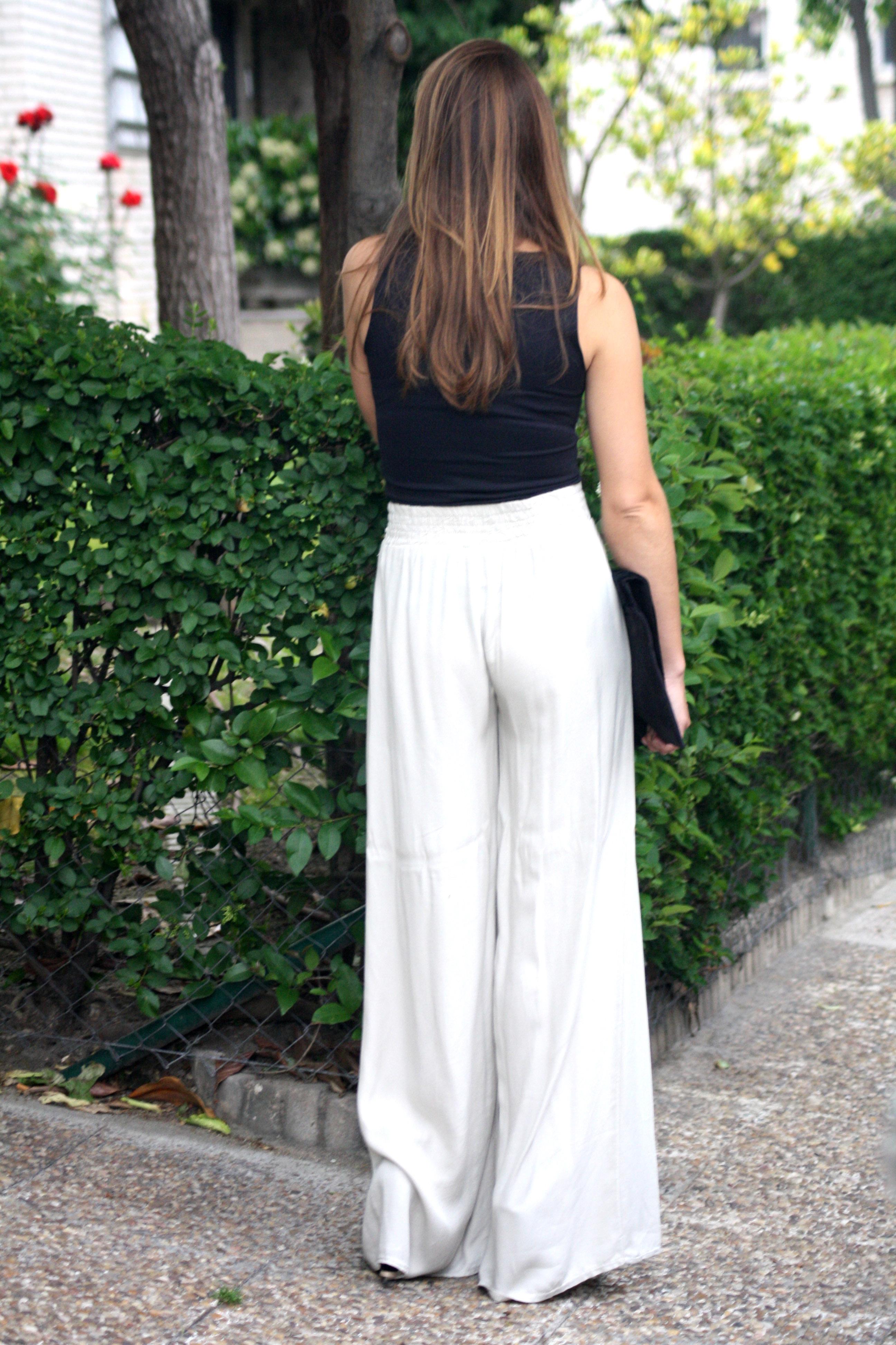 Pantalones palazzo la reina del low cost - Moda para boda ...