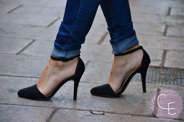 la reina del low cost blog de moda low cost blogger alicante blogger madrid look vuelta a la oficina arreglada pero informal camiseta básica HM zapatos online lefties bolso obag españa  4
