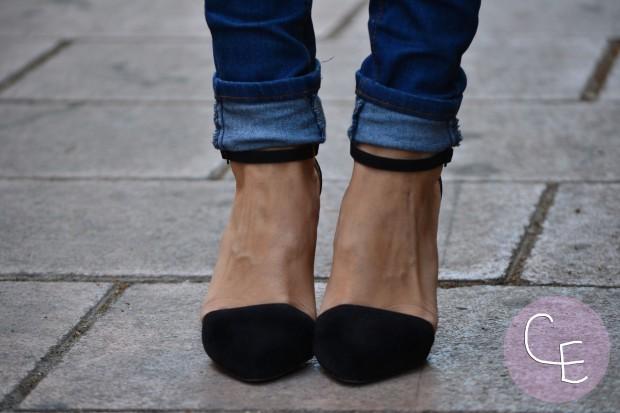 la reina del low cost blog de moda low cost blogger alicante blogger madrid look vuelta a la oficina look vuelta al cole arreglada pero informal camiseta básica HM tacones zapatos online lefties