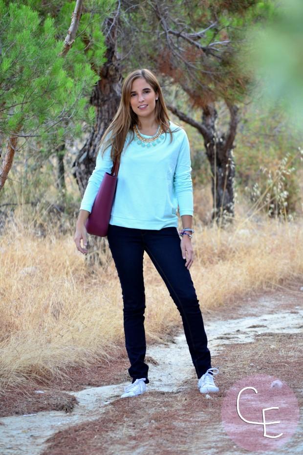 la reina del low cost pilar pascual blog de moda barata blogger buylevard online vero moda vaqueros que sientan bien jersey aguamarina verde mint pulseras cuchi cuchi collar son petites bolso o bag