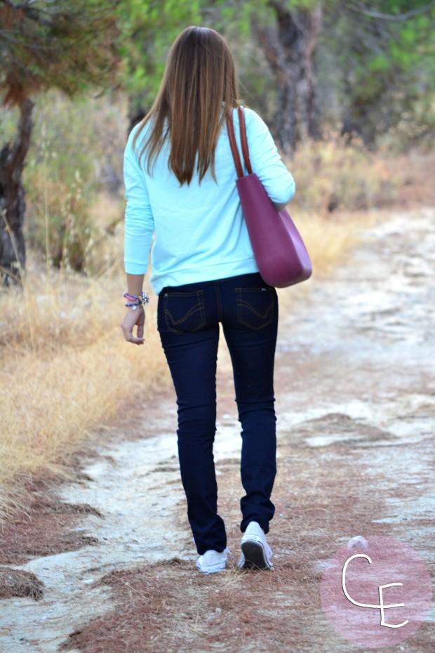 la reina del low cost pilar pascual blog de moda barata blogger buylevard online vero moda vaqueros que sientan bien jersey aguamarina verde mint pulseras cuchi cuchi collar son petites bolso o bag 2