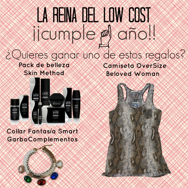la reina del low cost blog de moda low cost sorteo en facebook blogger alicante blogger madrid beloved woman skin method garbo complementos