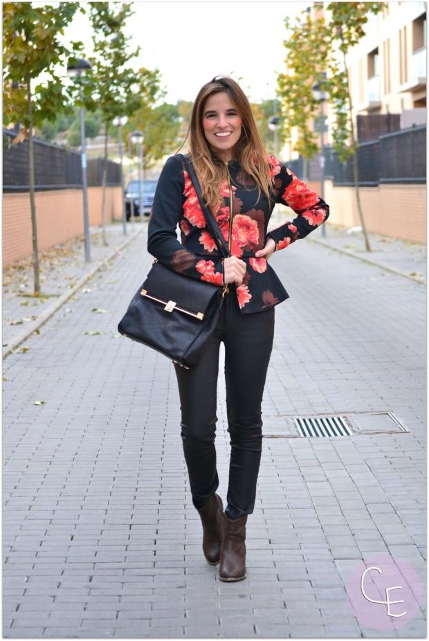 la reina del low cost pilar pascual del riquelme blogger madrid blogger alicante blog de moda barata botines refresh online comprar zapatos lourdes moreno alicante sudadera neopreno floral print (3)