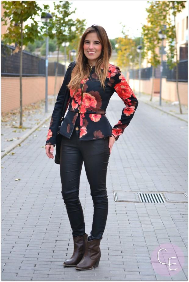 la reina del low cost pilar pascual del riquelme blogger madrid blogger alicante blog de moda barata botines refresh online comprar zapatos lourdes moreno alicante sudadera neopreno floral print (4)