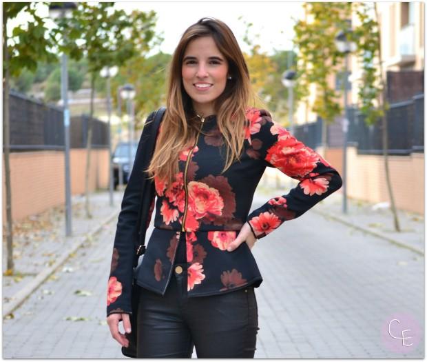 la reina del low cost pilar pascual del riquelme blogger madrid blogger alicante blog de moda barata botines refresh online comprar zapatos lourdes moreno alicante sudadera neopreno floral print (6)