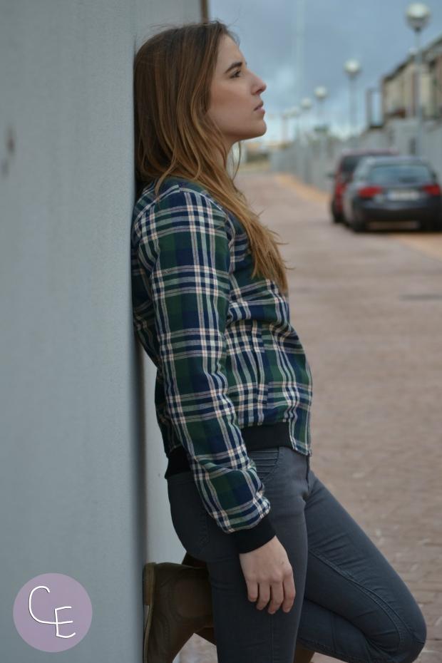 la reina del low cost blog de moda barata style outfit mulaya online bomber tartan estampado escoces pilar pascual del riquelme blogger madrid blogger alicante outfit ootd total look (3)