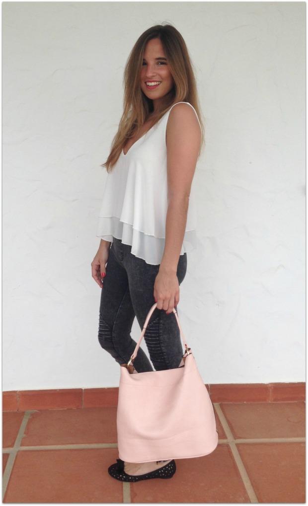 la reina del low cost pilar pascual del riquelme blogger madrid blogger alicante mulaya tienda online ropa barata style outfit crop top con volantes escote en la es (5)