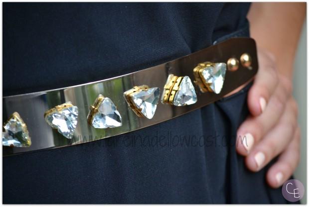 la reina del low cost blog de moda barata pilar pascual del riquelme outfit afterwork cinturon dorado metalico lourdes moreno alicante piedras vestido mulaya sandalias okeysi bolso botoncitos (6)