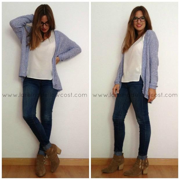 la reina del low costt blog de moda barata look para viajar en tren ir a la oficina style outfit comfy blogger madrid blogger alicante botines pull and bear H&M (2)