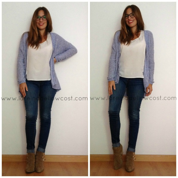 la reina del low costt blog de moda barata look para viajar en tren ir a la oficina style outfit comfy blogger madrid blogger alicante botines pull and bear H&M
