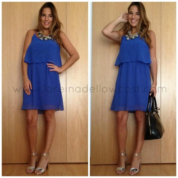 la reina del low cost blogger de moda barata blogger madrid blogger alicante vestido azul klein style outfit look para ir a la oficina pilar pascual del riquelme tiendas bygift torrelodones