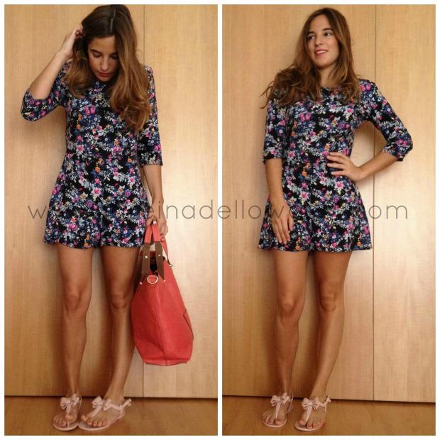 la reina del low cost blogger madrid blogger alicante pilar pascual del riquelme mono de flores corto que guapa shop zara primark accessorize tienda de ropa online barata (2)