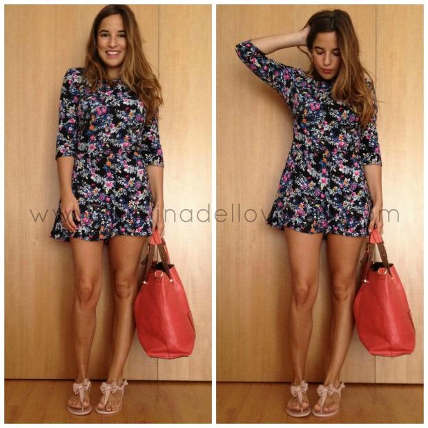 la reina del low cost blogger madrid blogger alicante pilar pascual del riquelme mono de flores corto que guapa shop zara primark accessorize tienda de ropa online barata