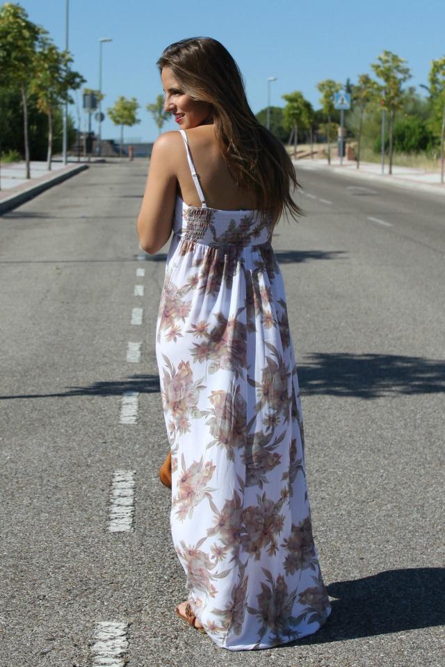 la reina del low cost blog de moda barata style outfit vestido largo flores look para ir a la oficina en agosto el vestidor de la moda look boho chic sandalias de t (4)