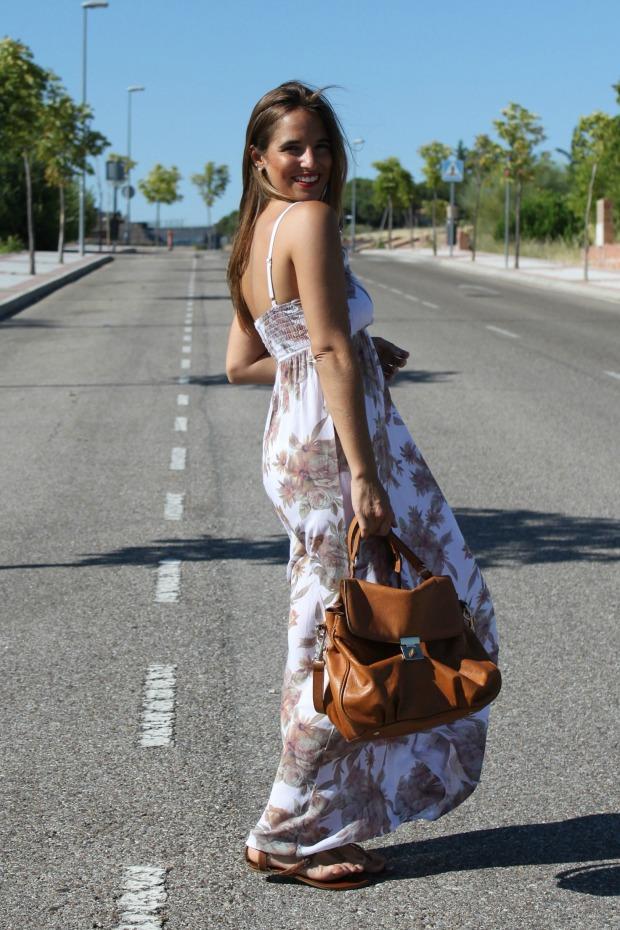 la reina del low cost blog de moda barata style outfit vestido largo flores look para ir a la oficina en agosto el vestidor de la moda look boho chic sandalias de t (5)