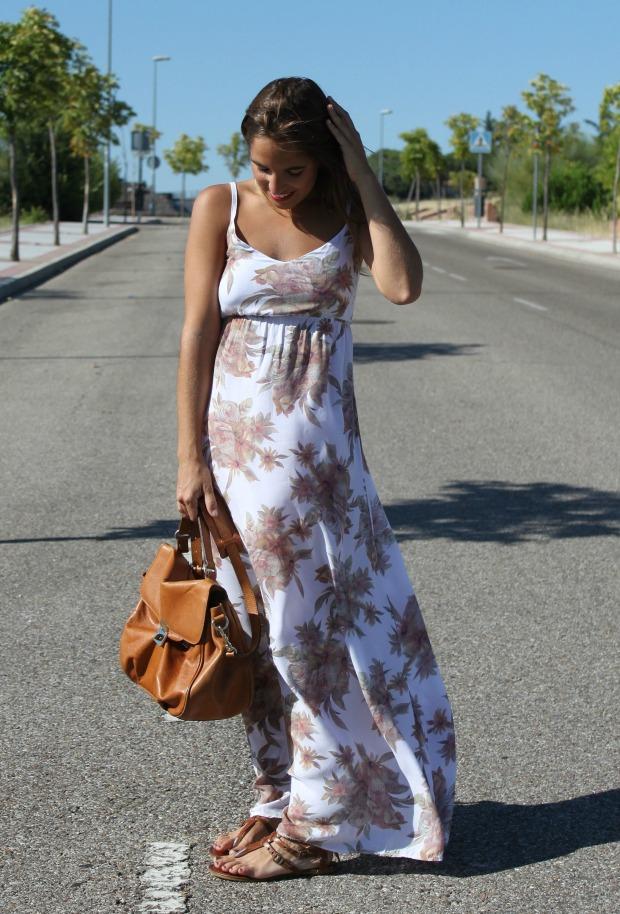 la reina del low cost blog de moda barata style outfit vestido largo flores look para ir a la oficina en agosto el vestidor de la moda look boho chic sandalias de t (6)