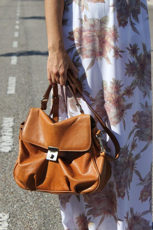 la reina del low cost blog de moda barata style outfit vestido largo flores look para ir a la oficina en agosto el vestidor de la moda look boho chic sandalias de t