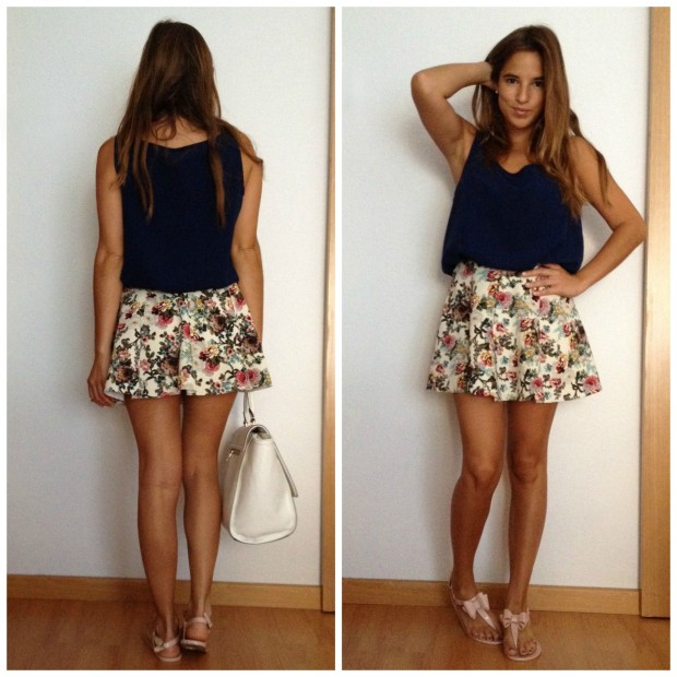 la reina del low cost pilar pascual del riquelme blogger madrid blogger alicante style outfit total look falda de flores que guapa tienda de ropa online barata (2)