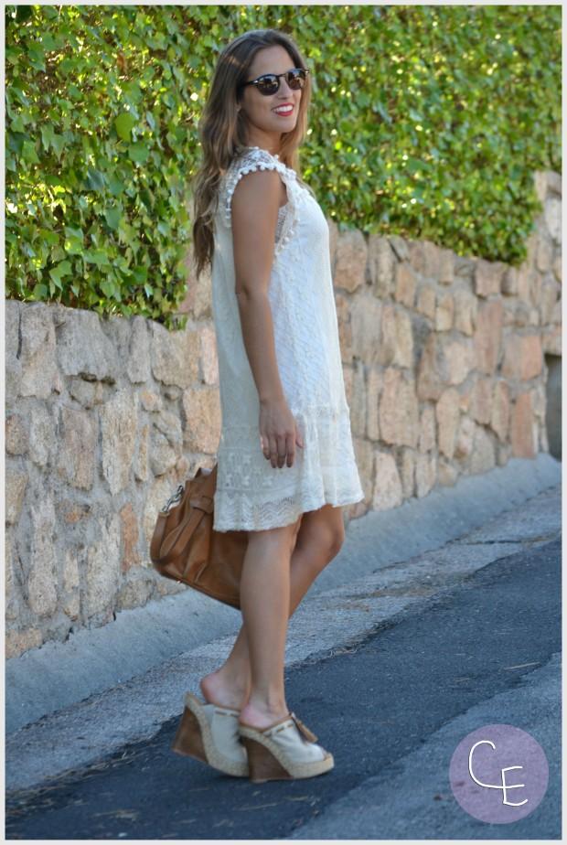 la reina del low cost pilar pascual del riquelme elvestidordelamoda vestido encaje blanco paula echevarria gafas de sol vintage hipsteeps blogger madrid blogger alicante total look oficina verano 2014 (10)