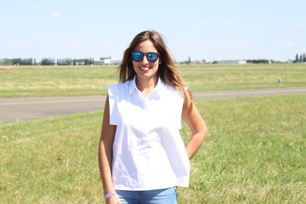 la reina del low cost pilar pascual del riquelme total look para viajar verano 2014 cirrus holanda paris madrid gafas de sol con cristal espejo cerodoscinco  (5)