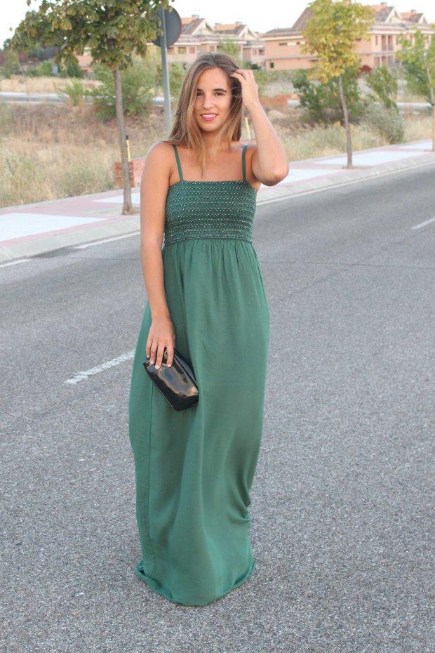 la reina del low cost blog de moda barata style outfit total look pilar pascual del riquelme vestido largo verde look noche cuñas gioseppo tiendas low cost alicante blogger madrid ootd blogger alicante  (3)