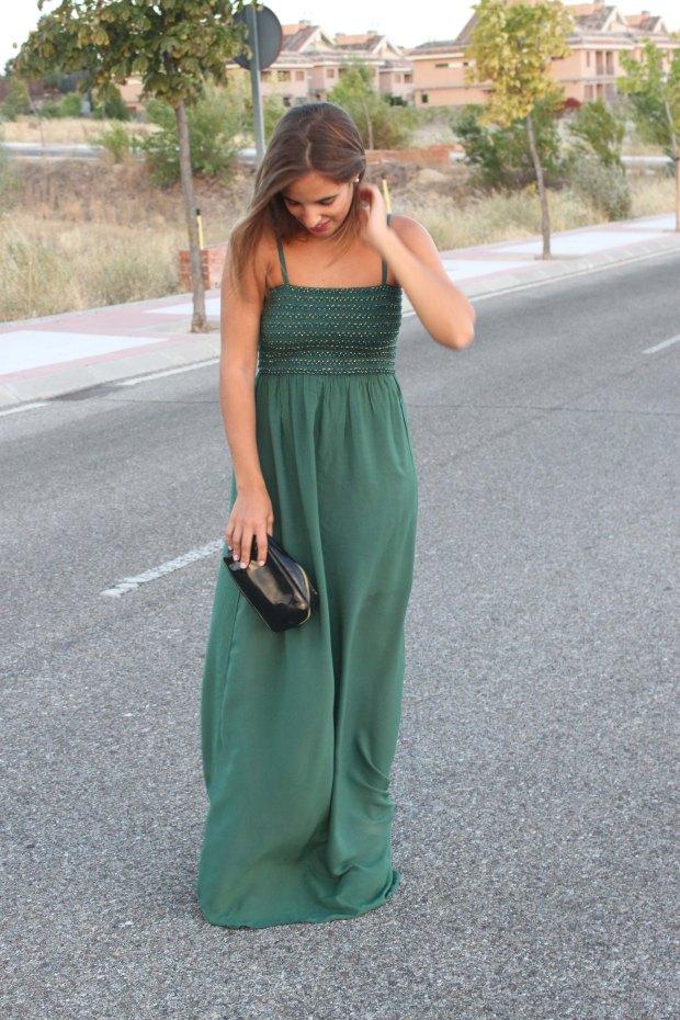 la reina del low cost blog de moda barata style outfit total look pilar pascual del riquelme vestido largo verde look noche cuñas gioseppo tiendas low cost alicante blogger madrid ootd blogger alicante  (4)