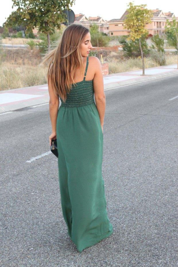 la reina del low cost blog de moda barata style outfit total look pilar pascual del riquelme vestido largo verde look noche cuñas gioseppo tiendas low cost alicante blogger madrid ootd blogger alicante  (5)