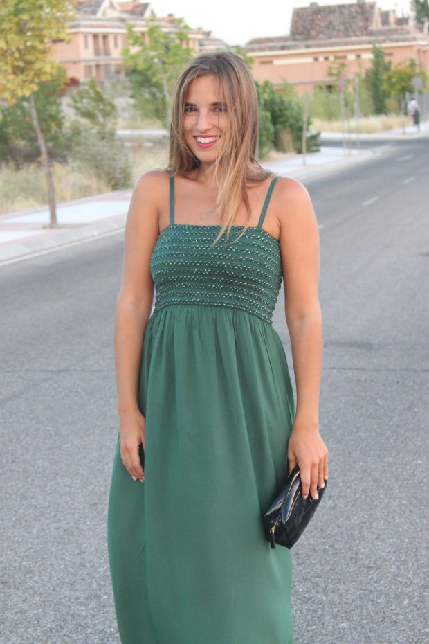 la reina del low cost blog de moda barata style outfit total look pilar pascual del riquelme vestido largo verde look noche cuñas gioseppo tiendas low cost alicante blogger madrid ootd blogger alicante  (6)