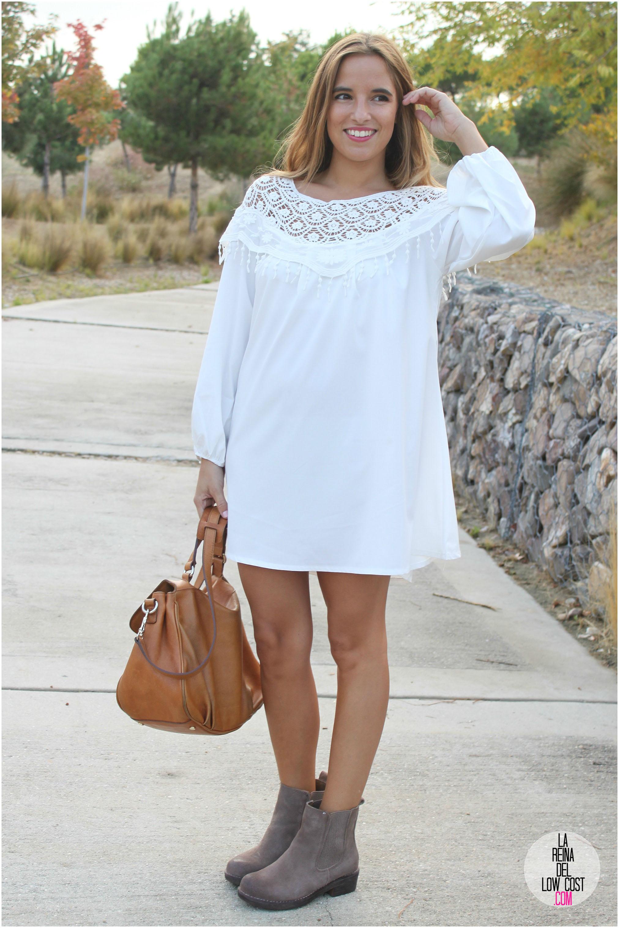 9a7289db0 Vestido y botines  look de otoño 2014 – La Reina del Low Cost