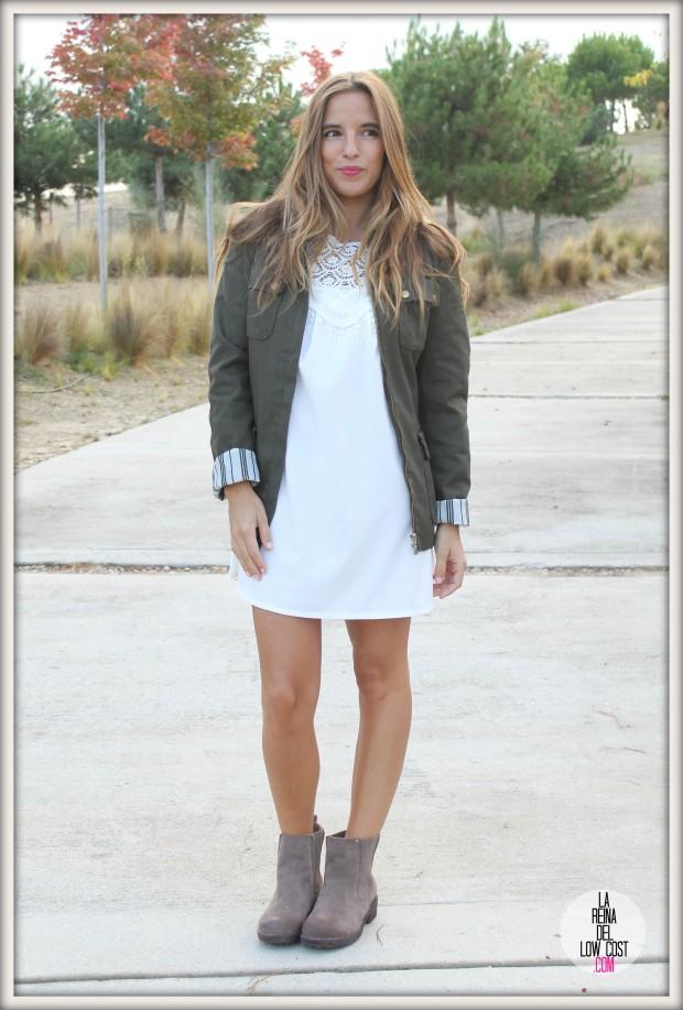 la reina del low cost pilar pascual del riquelme vestido blanco corto chollo moda tienda online ropa barata total look otoño para salir el fin de semana style outfit ootd blogger madrid vestido con botines  (8)