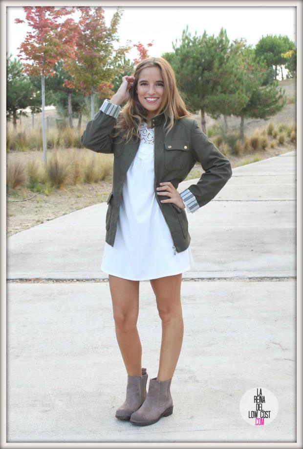 la reina del low cost pilar pascual del riquelme vestido blanco corto chollo moda tienda online ropa barata total look otoño para salir el fin de semana style outfit ootd blogger madrid vestido con botines  (10)
