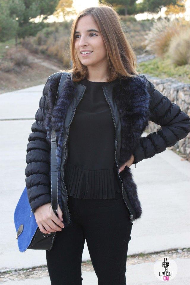 La Reina del Low Cost blog de moda barata pilar pascual del riquelme bolso azul barato chollomoda tienda de ropa barata online complementos abrigo desigual lourdes moreno salones negros mulaya pant