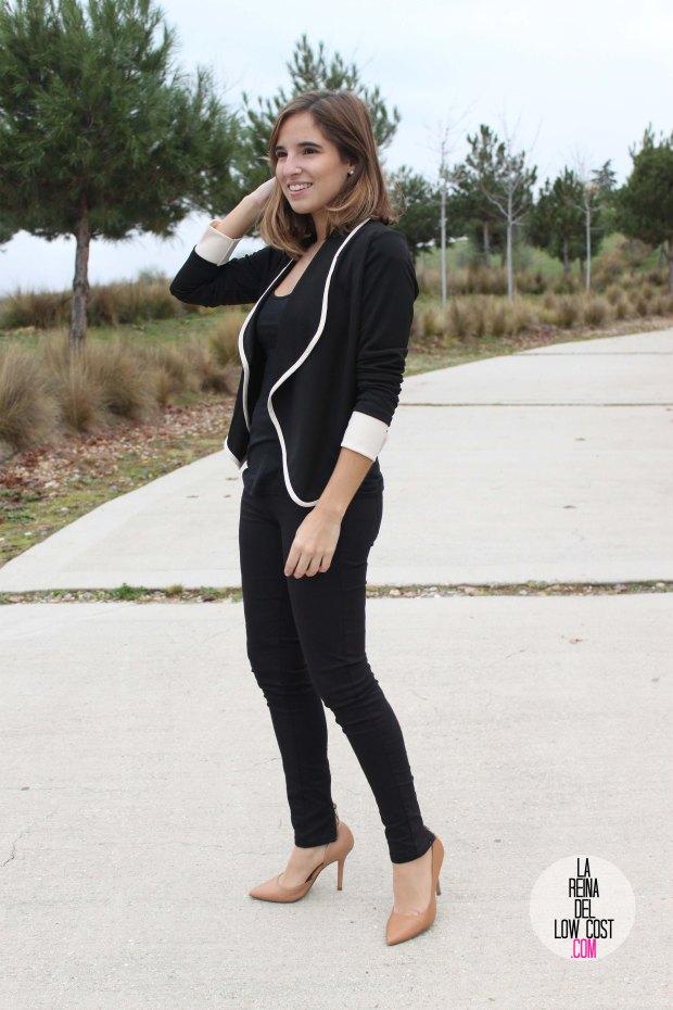 La Reina del low cost pilar pascual del riquelme chollomoda tienda de ropa online barata chaqueta blazer negra comoda como ir al trabajo sport llevar tacones al trabajo pantalones bershka