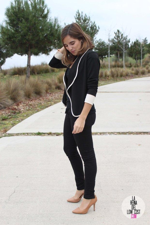 La Reina del low cost pilar pascual del riquelme chollomoda tienda de ropa online barata chaqueta blazer negra comoda como ir al trabajo sport llevar tacones al trabajo pantalones