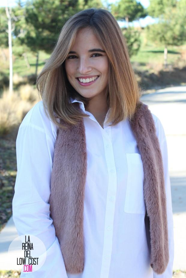 the amity company la reina del low cost pilar pascual del riquelme chaleco rosa pink vest look para ir a la oficina pantalones encerados zara camisa blanca pull and bear blog de moda fas (9)