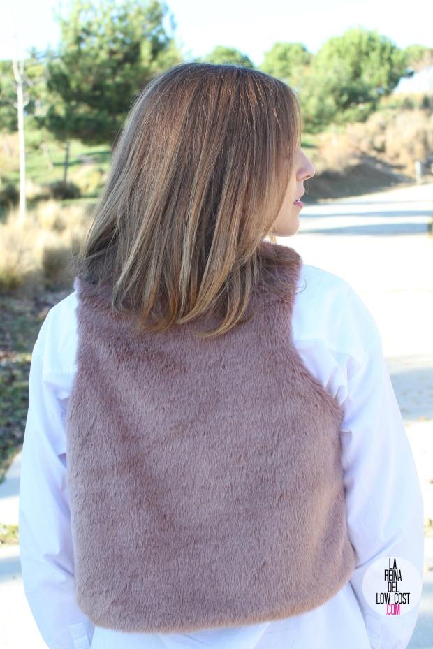 the amity company la reina del low cost pilar pascual del riquelme chaleco rosa pink vest look para ir a la oficina pantalones encerados zara camisa blanca pull and bear blog de moda fas (10)