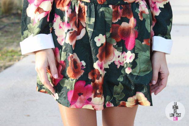 Vestido de flores manga larga cena de empresa 2014 cena de navidad amigo invisible tienda de ropa online talenti jeans la reina del low cost blog de moda barata chollos pilar pascual del riq
