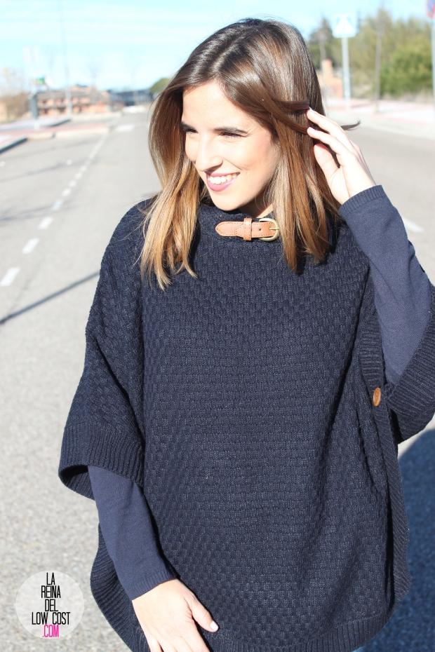 OKEYSI poncho rebajas la reina del low cost blog de moda barata style outfit pull and bear okeysi tienda online mango outlet  (5)