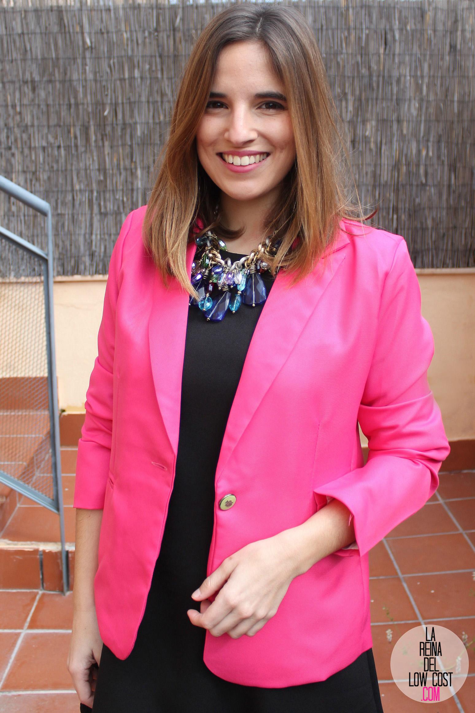 Vestido negro y chaqueta rosa – Vestidos de noche populares foto del ...