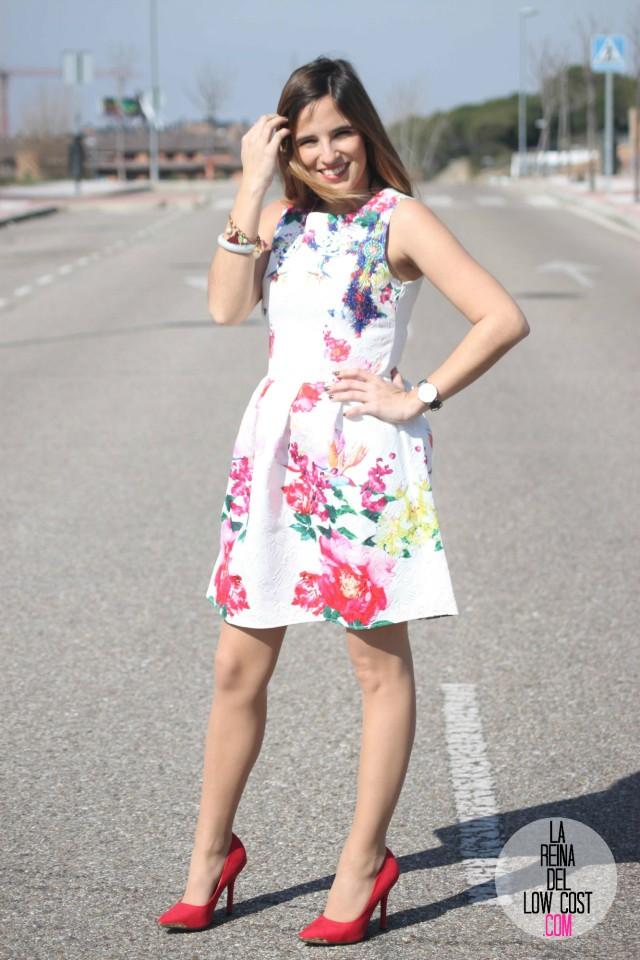 look para comunion graduacion 2015 orla de pies a cabeza zaragoza tienda ropa barata la reina del low cost pilar pascual del riquelme vestido blanco flores style outfit total look (2)