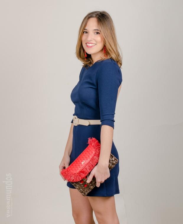 la reina del low cost el baul de alison mono corto espalda al aire style look comuniones 2015 bolso rojo roberto verino pendientes flamenca espalda abierta mono azul marino  (2)