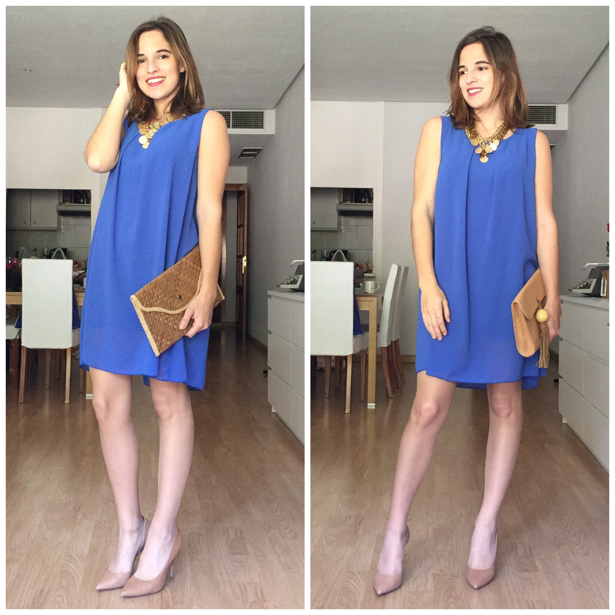 Combinar vestido azulon para boda