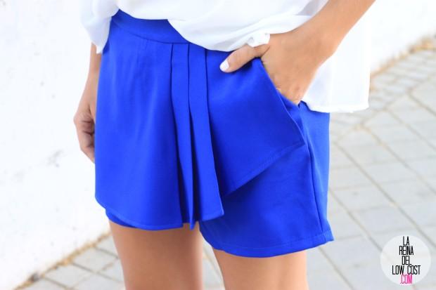 la reina del low cost falda pantalon azul skort 2015 verano gafas espejo madera 705 sunglasses camiseta mulaya sandalias blancas tienda de ropa online barata dulcevestir  (3)