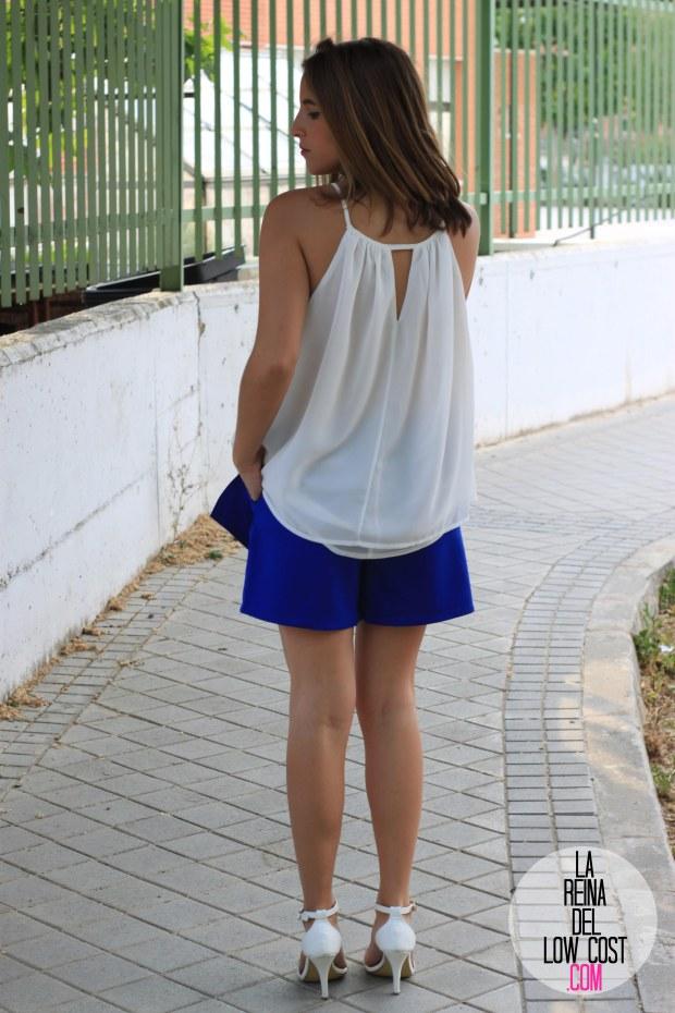 la reina del low cost falda pantalon azul skort 2015 verano gafas espejo madera 705 sunglasses camiseta mulaya sandalias blancas tienda de ropa online barata dulcevestir  (5)
