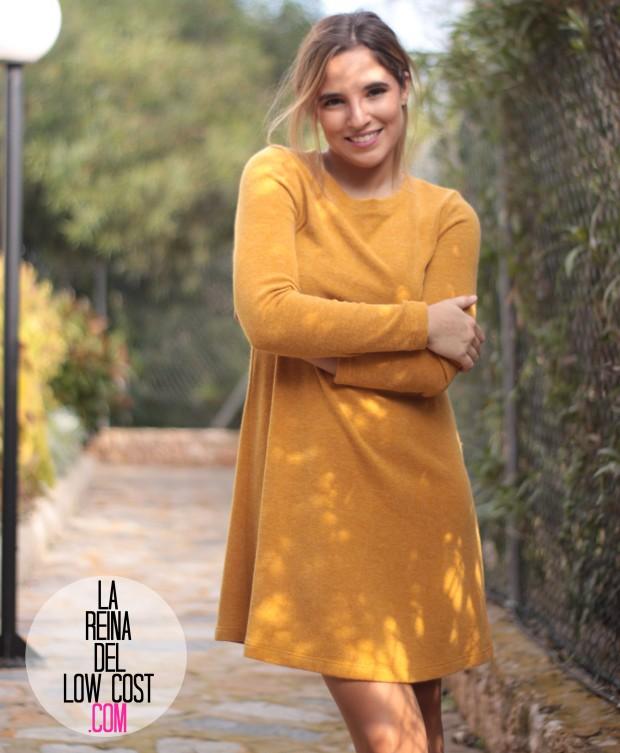 la reina del low cost look para ir a la oficina sencillo vestido punto mostaza tacones primark elvestidordelamoda tienda online diciembre 2015 otoño invierno (6)