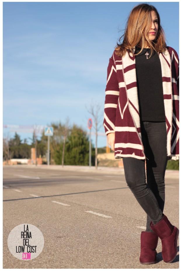 la reina del low cost pilar pascual del riquelme color burgundy vino burdeos de pies a cabeza zaragoza tienda online ropa facebook barato primark mulaya (2)